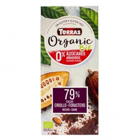 CHOCOLATE NEGRO 79% BIO SIN...